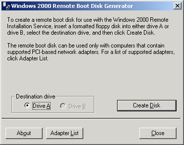 how to make a windows xp boot disk