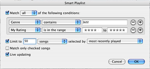 Organizing Your Music with the iTunes Library, Standard Playlists